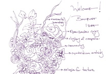 Bouquet Inspirations / Sketches done by Violet (our resident wedding planner) to inspire you! / by FiftyFlowers