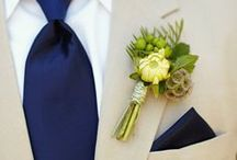 Boutonnieres We Love / Boutonnieres have come a long way from the ol' carnation in the buttonhole! These days the options are seemingly endless. Succulents, Craspedia Balls, Orchids, Fiddlehead Ferns, Scabiosa Pods--go nuts for your nuptials!