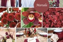Marsala - 2015 Color of the Year / Marsala is a deep red wine or a red-brown color. It is earthy, sophisticated, and almost sensual.