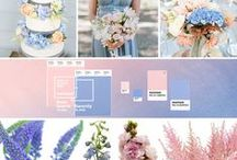 Rose Quartz & Serenity - 2016 Color of the Year / Joined together, Rose Quartz and Serenity demonstrate an inherent balance between a warmer embracing rose tone and the cooler tranquil blue, reflecting connection and wellness as well as a soothing sense of order and peace.
