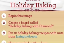Holiday Baking with Diamond / I am following Diamond Nuts on Pinterest   I am following Just a Pinch on Facebook   I am following Diamond Nuts on Facebook