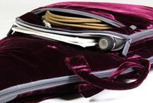 Burgundy Velvet Electric Guitar Case Gig Bag / For the individual with a preponderance of leather-bound books, we made a case that literally oozes classiness*  http://www.amazon.com/dp/B00NCCX9Y2/ref=cm_sw_r_tw_dp_1CQtub02V8WQ6  *this case has a very pleasing hand feel and is not literally oozing anything