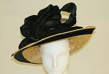 Belle Epoque headwear (hats, parasols, tiaras)