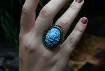 Vintage Cameo Rings / Beautiful Rings made with rare vintage cameos