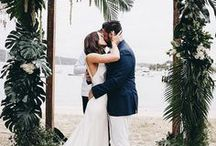Tropical Luxe Wedding / Tropical wedding - real wedding in Watsons Bay NSW.  Styling and florals by us : )