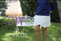 COSTURA Hacer y coser faldas/Sewing skirt!!