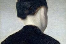By Vilhelm Hammershøi  / The masters work.