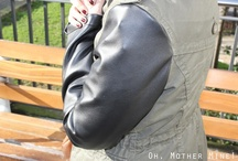 Chaqueta con mangas de cuero / by Oh, Mother Mine!!