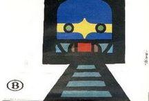 Vintage Belgian Train Posters