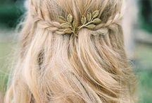 wedding; hair