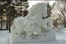 ♥ ZIMNÍ království ♥ / ♥ Led a sníh * mistrovské kousky ♥