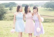 """LOOKBOOK: Bridesmaid Series / """"Life is a wonderful journey best travelled with friends"""" - couldn't agree more. Here we present to you, 2015 TC Bridesmaids Series - a collection features the ever lovely halter, toga & sweetheart neckline - in a variety of colours and sizes."""