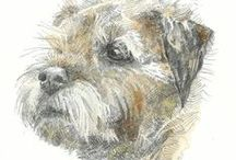 Dogs / illustrations and photographs of our faithful friends, including some of my own work