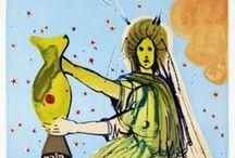 Zodiáco Dalí / En 1967 Dalí nos mostró desde su muy creativa mente, cómo veía los signos del zodiáco.