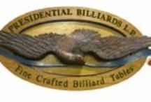 Billiard Tables / We sell Presidential Billiards. If you see something you like or have questions, give us a call. Great entertainment for the family!