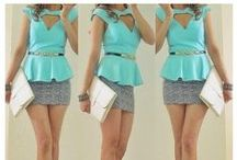 Peplum top mint how to style / What to wear with and how to style a peplum top