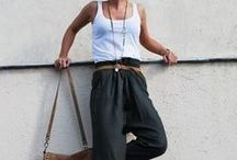 Harem pants styling ideas / What to wear and how to style floral harem pants