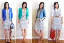 Striped dress styling ideas / What to wear with and how to style a boatneck stripped dress