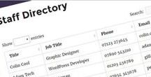 WordPress Staff Directory Plugin - Website Examples / Screenshots of WordPress staff directories designed using the Posts Table Pro plugin by Barn2 Media. Display your employees in a sortable, searchable list. Get Posts Table Pro from https://barn2.co.uk/wordpress-products/posts-table-pro.