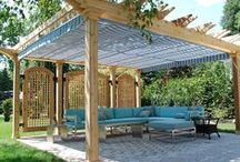 Deck Canopies / Deck canopies are a stationary awning with a fixed frame that offers unique advantages: they can be custom designed to fit in virtually any setting, and cover almost any area you desire, no matter how large or small. Sturdy frame construction means no worries about wind or weather in summer storms. And our beautiful collection of awning fabrics make it possible for you to create just the right look, reflecting your sense of style!