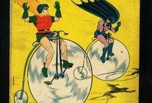 Super Wheels / Superheroes and cartoon characters on two wheels.