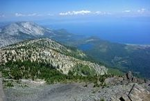 Mount Tallac / The highest peak close (less than 3 miles) to Lake Tahoe, California. A 5 mile trail leads to the summit, passing 2 pretty lakes en route