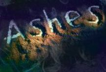 My Book Ashes / Characters and places that remind me of the dystopian sci-fi (horrorish) book I wrote.