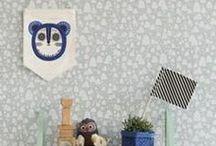 FERM / Tapeter från designhuset Ferm Living. Barntapeter i stil av retro och pastell.