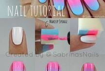 Nail and makeup tutorials / nails, nail, art, diy, nailpolish, design, cosmetics, cosmetic, easy, eyeshadow, brown eyes, makeup tutorial,