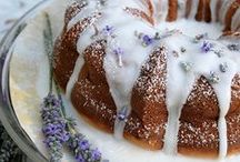 Lavender Dessert Recipes / Recipes and ideas for desserts containing lavender.
