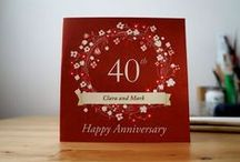 Anniversary cards and gifts
