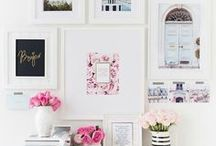 DIY wall art / A board for a wall of Pinterest boards - haha no seriously I love Wall Art so want to share this love and inspiration for wall art arrangement designs.