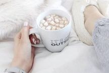 ーLet's get cozy / I love rainy days with a blanket and a cup of tea and a book♡