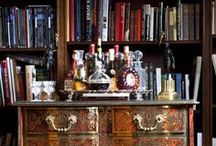 bar and bar cart decor / by Susan Noble