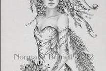 Fairy zentangle