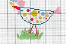 ptaszki - cross stitch birds / ptaszynki i wszelki drób