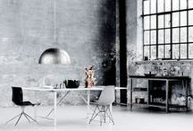 Concrete + Metal / Here are some of our more industrial inspirations.