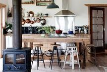 Elegant Rustic Interiors / There's something about combining modern sensibilities with rustic throw-back aesthetics that got us starry-eyed. Here are a few of our favorites.