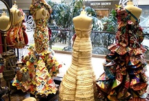 Paper Fashion / Amazing fashion created out of PAPYRUS cards, stationery, wrap & bags.