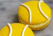 TENNIS TREATS / Tennis cakes, cupcakes, and pasteries. Sounds like a perfect match.