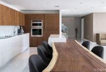 White Kitchens / A collection of white kitchens #whitekitchens #kitchens #ideas