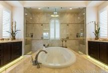Luxurious Modern Bathrooms / A collection of modern bathrooms #luxury #modern #bathrooms #ideas