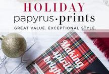 "PAPYRUS Prints Holiday Collection / Welcome to PAPYRUS Prints! An amazing design showcase of custom print holiday cards, invitations, announcements and note cards. Use PAPYRUS Prints to design a personalized card. 1) Select the design template that speaks to you, 2) Click on ""Customize"" to the template, 3) Edit the photo, font, color, and design details. Design, quality and satisfaction lead this collection which features the vibrant printing, beautiful paper stock and envelopes you've become accustom to at PAPYRUS."