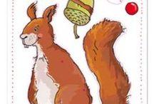 Bastelbögen & mehr / Alles rund ums Basteln: Bastelbögen mit Tieren, Scheren und mehr.