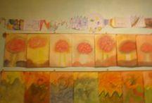 Schilderingen van mijn klas.