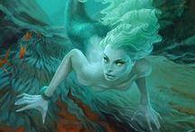 Mermaids / Mermaid pins: located here.