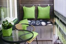 Garden / Patio / Balcony / Plants, Design, Outdoor Furniture, Outdoor Spaces & Rooms, Balcony Design, Container Gardening / by Catja Moskal