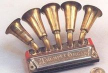 Vintage instruments of music