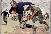 Rugbi - Vintage Brushwork / Cartell, dibuixos... que fan referència a l'esport del rugbi.
