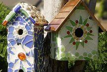 Mosaik - Vogelhäuser